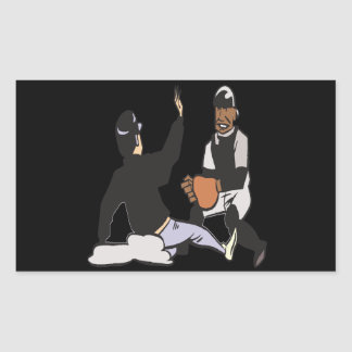 Sliding Into Home Plate Rectangular Stickers