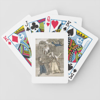 Slight of Hand by a Monkey or the Lady's Head Unlo Bicycle Playing Cards