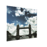 Slight Trippy : London Bridge (UK) United Kingdom Gallery Wrap Canvas