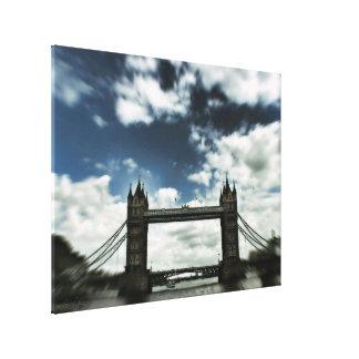 Slight Trippy : London Bridge (UK) United Kingdom Gallery Wrap Canvas