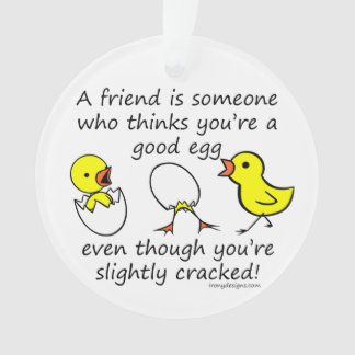 Slightly Cracked Funny Best Friend Saying Ornament