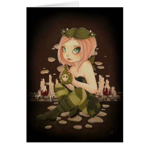Slightly Toxic - COLOR ME inside - Poison fairy Cards