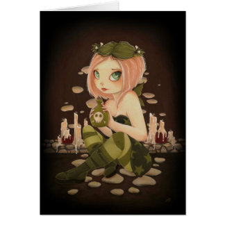 Slightly Toxic - COLOR ME inside - Poison fairy Greeting Card