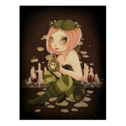 Slightly Toxic - Poison Fairy post card
