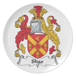 Sligo Family Crest Party Plate