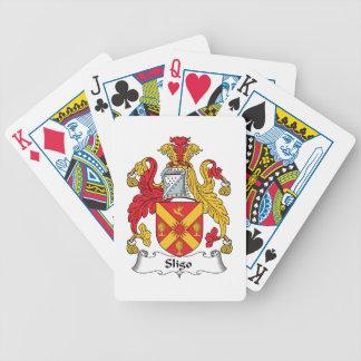 Sligo Family Crest Bicycle Poker Deck