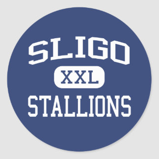 Sligo Stallions Middle Silver Spring Classic Round Sticker