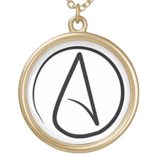 Slim Atheist Symbol Necklace