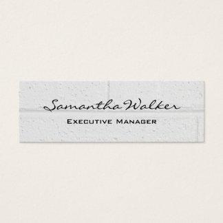 Slim Handwriting Modern Light Grey Wall Bricks Mini Business Card