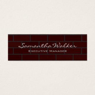 Slim Handwriting Modern Trendy Wall Bricks Mini Business Card