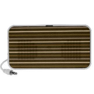 Slim Horizontal Stripes Cream Browns Portable Speakers
