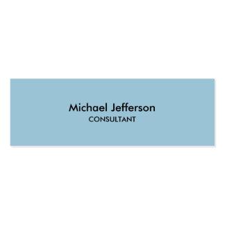 Slim Plain Blue Professional Business Card