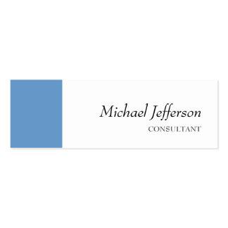 Slim Plain Blue White Professional Business Card