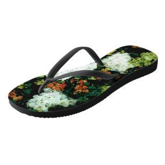 Slim Straps: Floral Slippers Flip Flops