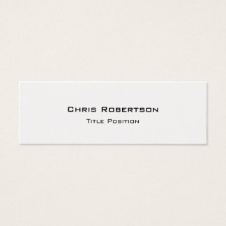 Slim Trendy Charming Business Card