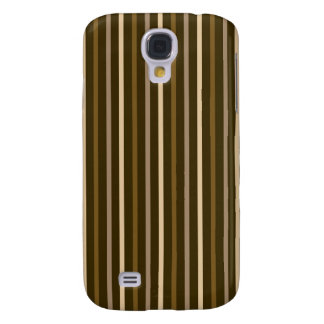 Slim Vertical Stripes Cream & Browns Galaxy S4 Case