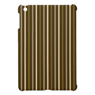 Slim Vertical Stripes Cream & Browns iPad Mini Cover