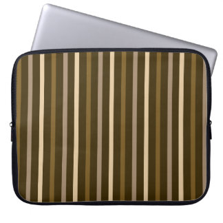 Slim Vertical Stripes Cream & Browns Laptop Sleeve