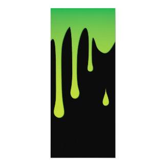 Slime dripping 10 cm x 24 cm invitation card