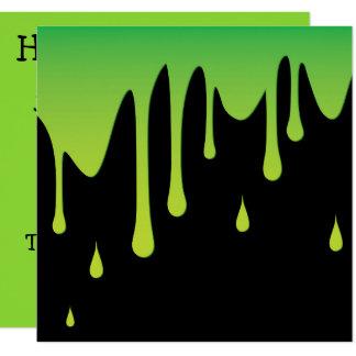 Slime dripping 13 cm x 13 cm square invitation card