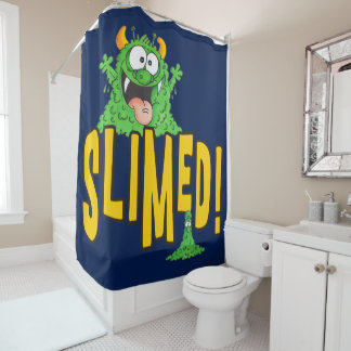 Slimed Shower Curtain