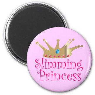 Slimming Princess 6 Cm Round Magnet