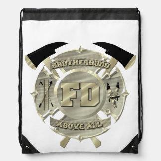 Sling back firefighter bag.... drawstring bags