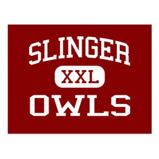 Slinger - Owls - Middle School - Slinger Wisconsin Postcard