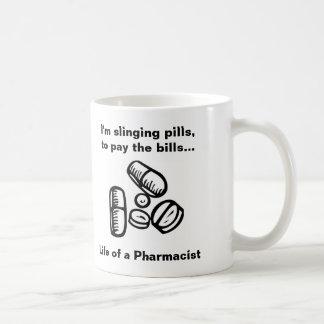 Slinging Pills to Pay the Bills Basic White Mug