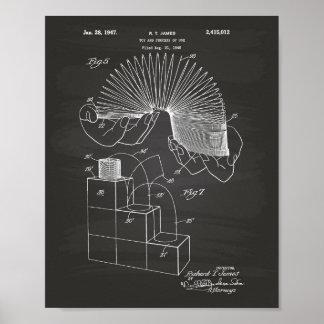 Slinky Toy 1946 Patent Art - Chalkboard Poster