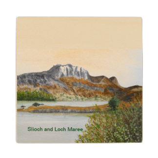 Slioch and Loch Maree-Wester Ross Wood Coaster