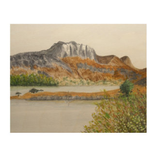 Slioch and Loch Maree-Wester Ross Wood Wall Art