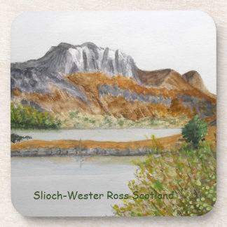 Slioch-Wester Ross Coasters with Cork back.