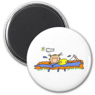 Slip And Slide On A Hot Day Magnet Fridge Magnets
