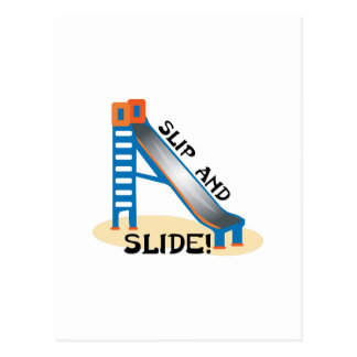 Slip and Slide Postcard
