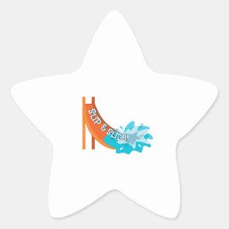Slip And Slide Star Sticker