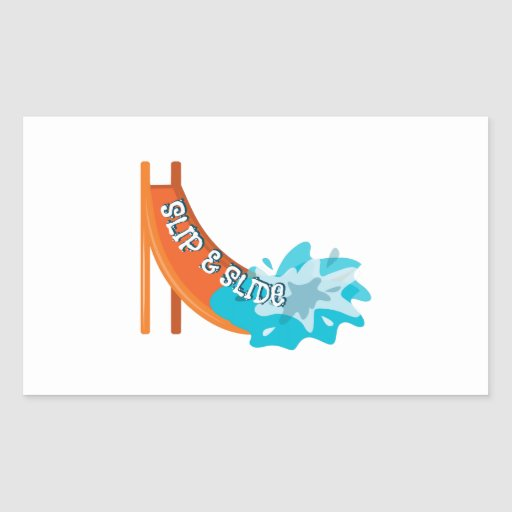 Slip And Slide Rectangle Stickers