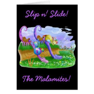 Slip n' Slide! Greeting Card