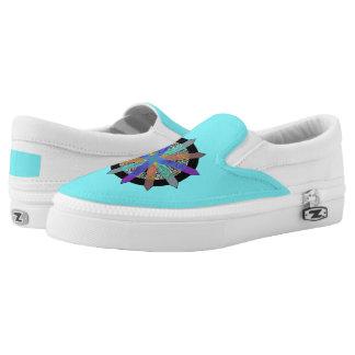 Slip on shoes a modern geometric design