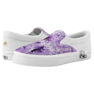 Slip on Shoes - Purple - Modern Art