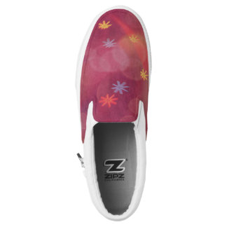 Slip-on sneakers with Bubbles & Flowers in Pink