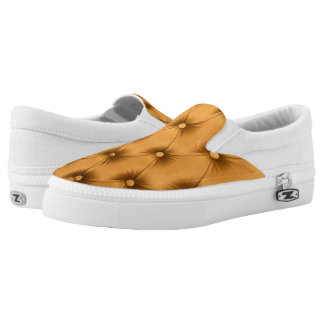 Slip on with Gold capitone