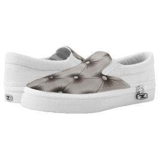 Slip on with Grey capitone Printed Shoes