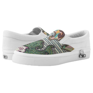 Slip ons by Kel Printed Shoes