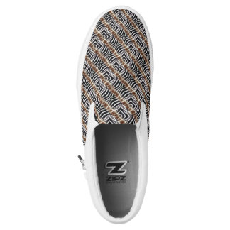Slip Ons Earth Toned Shoes - Modern Animal Printed Shoes