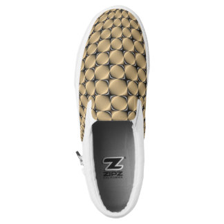 Slip Ons Tiger's Eye Printed Shoes