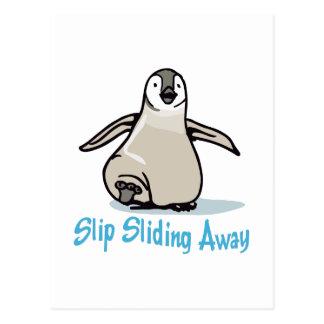 Slip Sliding Away Postcard