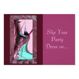 Slip Your Party Dress on... 13 Cm X 18 Cm Invitation Card