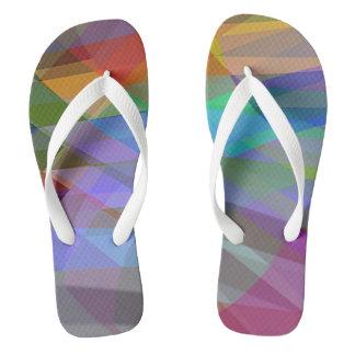 Slipper Prints Abstract Flip Flops
