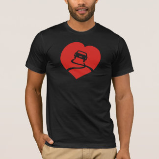 Slippery Love Sign dark t-shirt